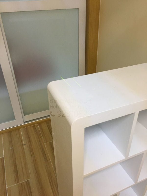 客人在客廳的訂造傢俬有: 客廳/ 客廳貯物櫃/ 書櫃
