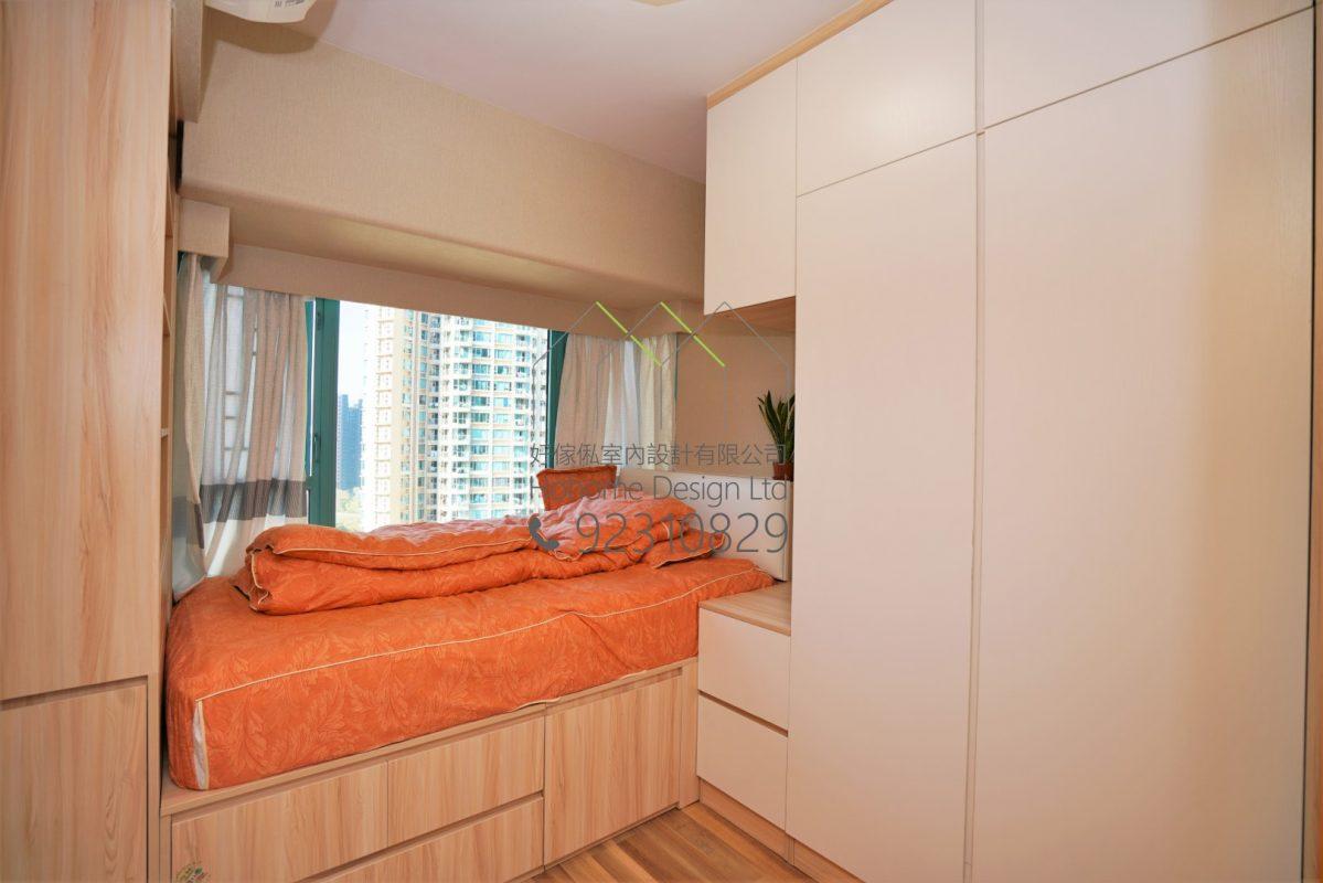 客人在睡房的訂造傢俬有: 睡房/ 床/ 地台床/ 榻榻米/ 睡房貯物櫃/ 衣櫃