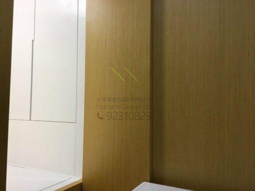 客人在客廳的訂造傢俬有: 房趟門/ 間房牆/ 間房櫃