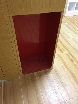 客人在客廳的訂造傢俬有: 神台櫃/ 客廳貯物櫃