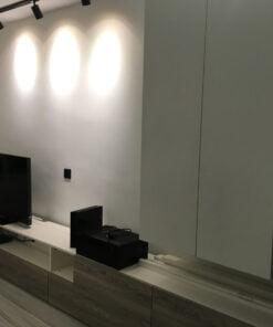 客人在客廳的訂造傢俬有: 客廳/ 客廳貯物櫃/ 吊櫃/ 鞋櫃/ 視聽組合 / 電視櫃