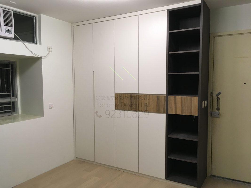 客人在客廳的訂造傢俬有: 客廳/ 客廳貯物櫃/ C字櫃/ 客廳儲物櫃