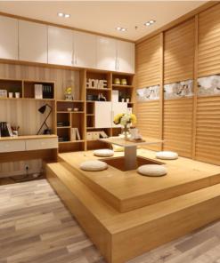 客人在客廳的訂造傢俬有: 客廳/ 客廳儲物櫃/ 客廳榻榻米/ 電動升降檯/ 客廳儲物地台/ 飾物櫃/ 書櫃