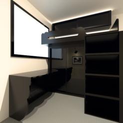 客人在睡房的訂造傢俬有: 睡房/ 床/ 組合床/上下床/碌架床/L形床/雙層床/ 上床下衣櫃/ 睡房貯物櫃/ 樓梯櫃/ 衣櫃/ 吊櫃/ 檯/ 書檯