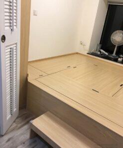 客人在客廳的訂造傢俬有: 客廳/ 客廳貯物櫃/ 客廳榻榻米/ 電動麻雀枱/ 電動升降檯/ 客廳儲物地台