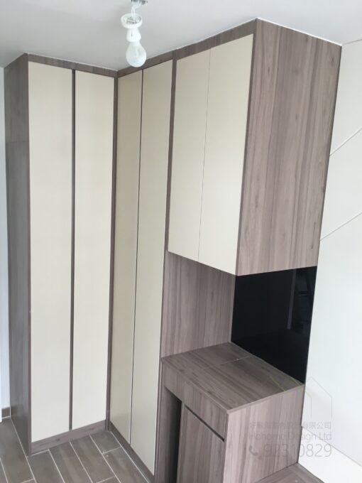 客人在睡房的訂造傢俬有: 睡房/ 睡房貯物櫃/ 梳妝枱/ 衣櫃