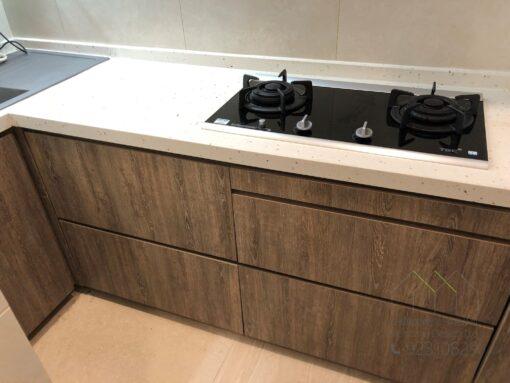 無縫石枱面/ 廚櫃/ L形廚櫃