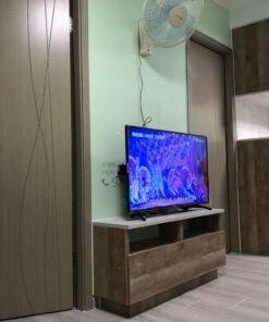 客人在客廳的訂造傢俬有: 客廳/ 客廳貯物櫃/ 客廳儲物櫃/ 視聽組合 / 電視櫃