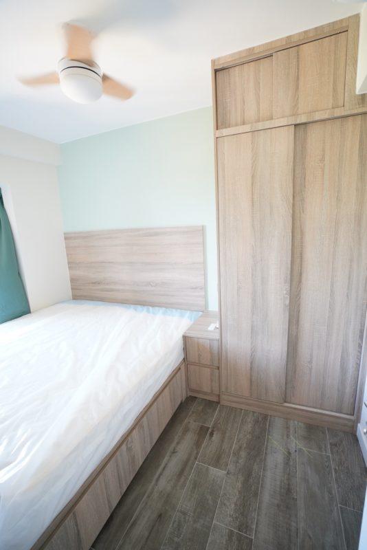 客人在睡房的訂造傢俬有: 睡房/ 床/ 床頭板/ 地台床/ 榻榻米/ 油壓床/ 睡房貯物櫃/ 衣櫃