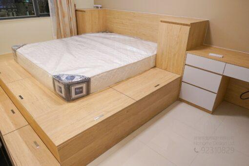 客人在睡房的訂造傢俬有: 睡房/ 床/ 地台床/ 榻榻米/ 油壓床/ 電動油壓床
