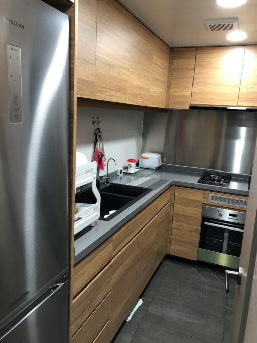 不生銹鋼背板/ 廚櫃/ L形廚櫃