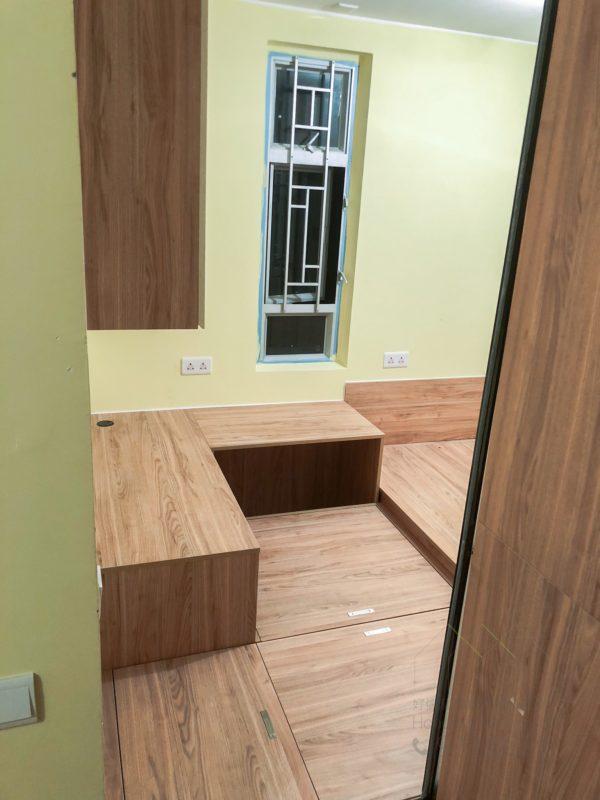 客人在睡房的訂造傢俬有: 睡房/ 地台床/ 榻榻米/ 油壓床/ 檯/ 書檯