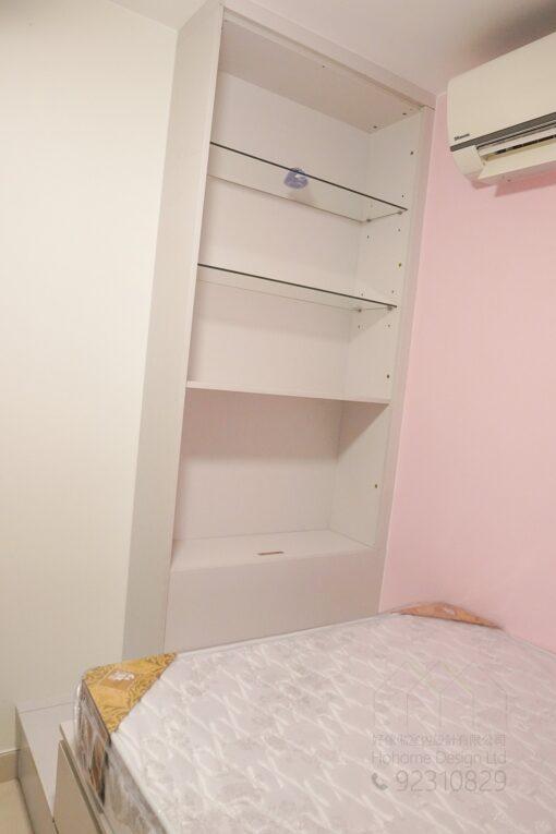 客人在睡房的訂造傢俬有: 睡房/ 睡房貯物櫃/ 床尾櫃