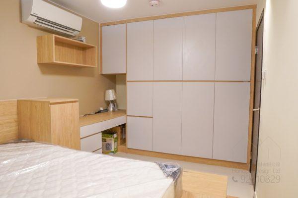 客人在睡房的訂造傢俬有: 睡房/ 睡房貯物櫃/ 衣櫃/ 吊櫃/ 檯/ 書檯