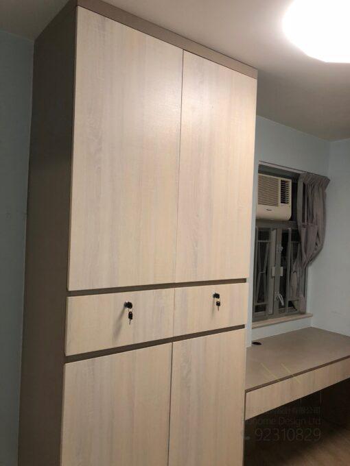 客人在睡房的訂造傢俬有: 睡房/ 睡房貯物櫃/ 衣櫃/ 書櫃 / 飾物櫃/ 檯/ 書檯