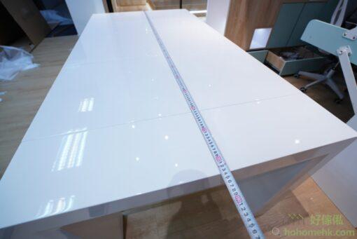 3塊枱面板放下時,長度為: 1850