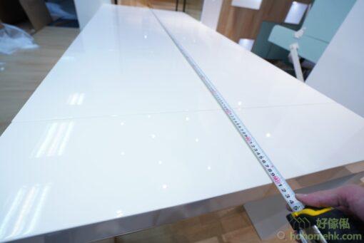 這是伸縮餐桌完全打開時的長度