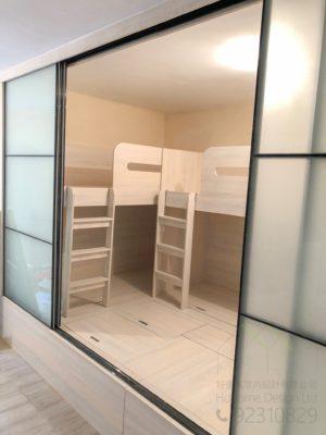 組合床及地台床及房間趟門