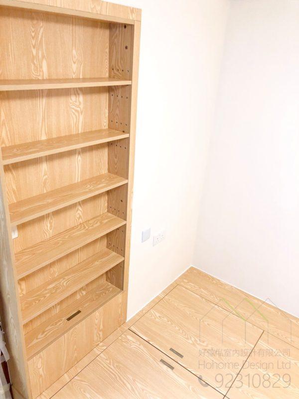 地台床及書櫃
