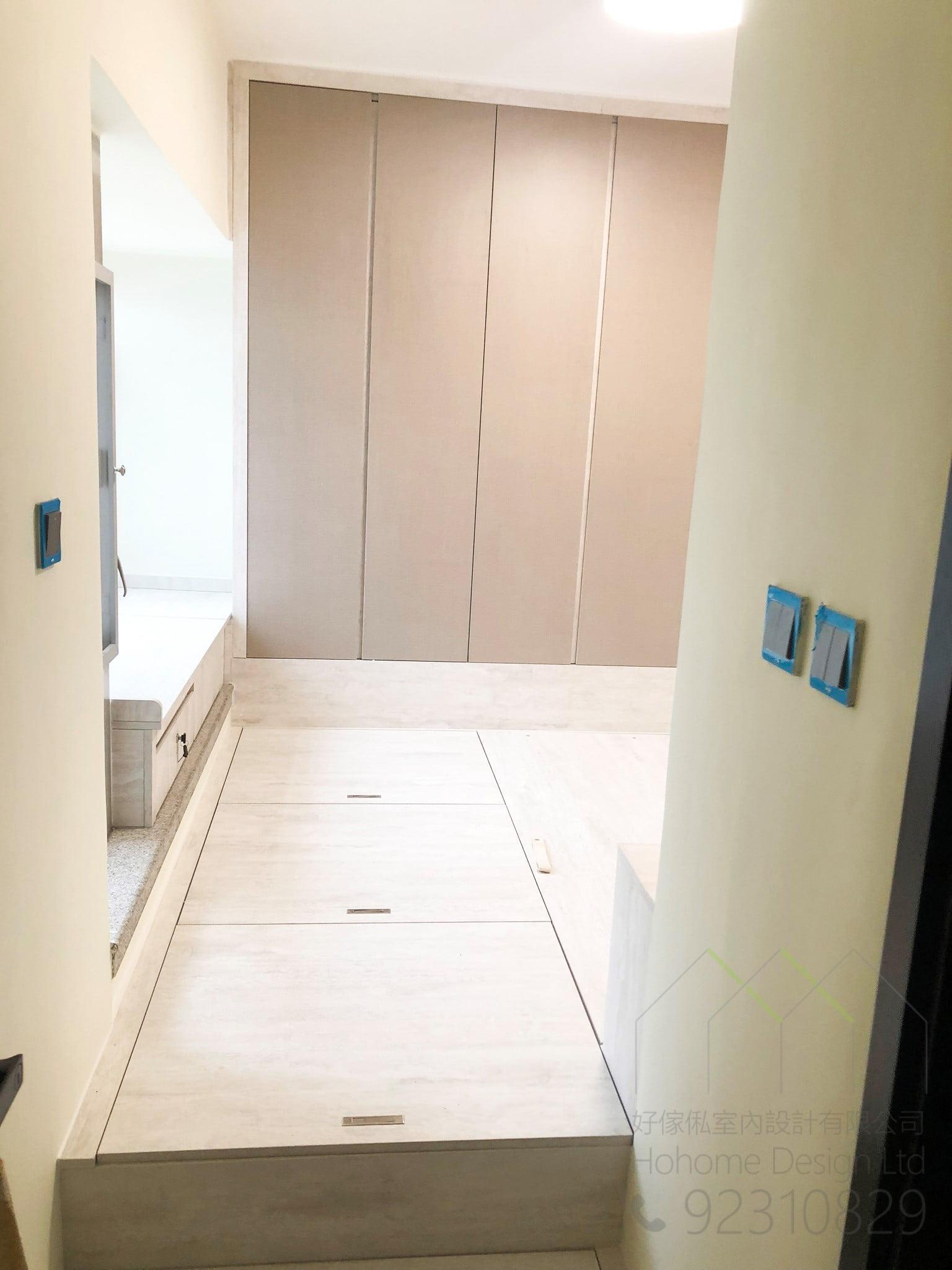 地台床連衣櫃