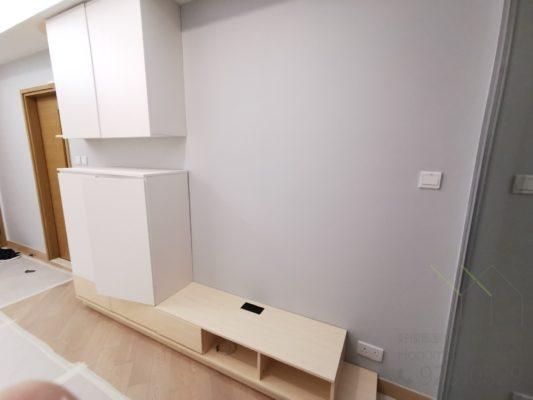 白色電視櫃