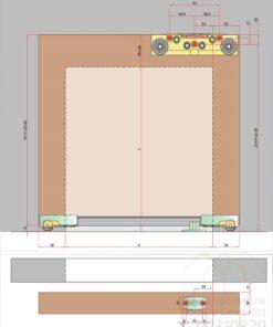 意大利進口隱形軌道趟門五金,適合應用在訂造吊趟門或其他由我們設計師建議的訂造傢俬之上