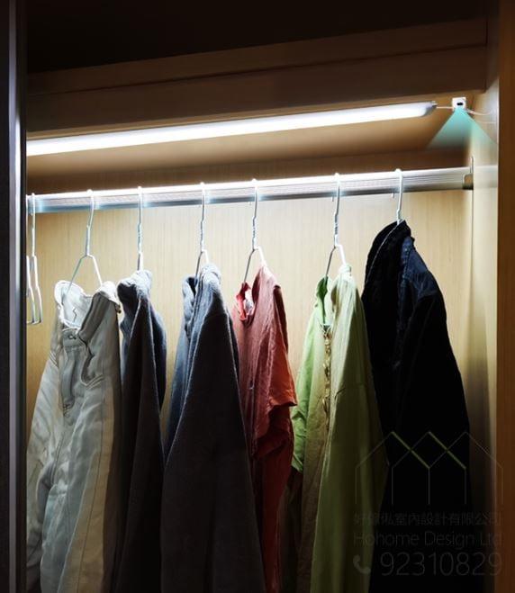 智能感應燈 – 訂造衣櫃和廚櫃必備五金,適合應用在訂造衣櫃、智能家居 / 智能家具及廚櫃或其他由我們設計師建議的訂造傢俬之上