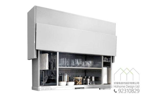 智能家居電動升降系統 衣櫃廚櫃升降吊櫃五金配件,適合應用在訂造書櫃、電視櫃、廚櫃、衣櫃、儲物櫃及智能家居 / 智能家具或其他由我們設計師建議的訂造傢俬之上