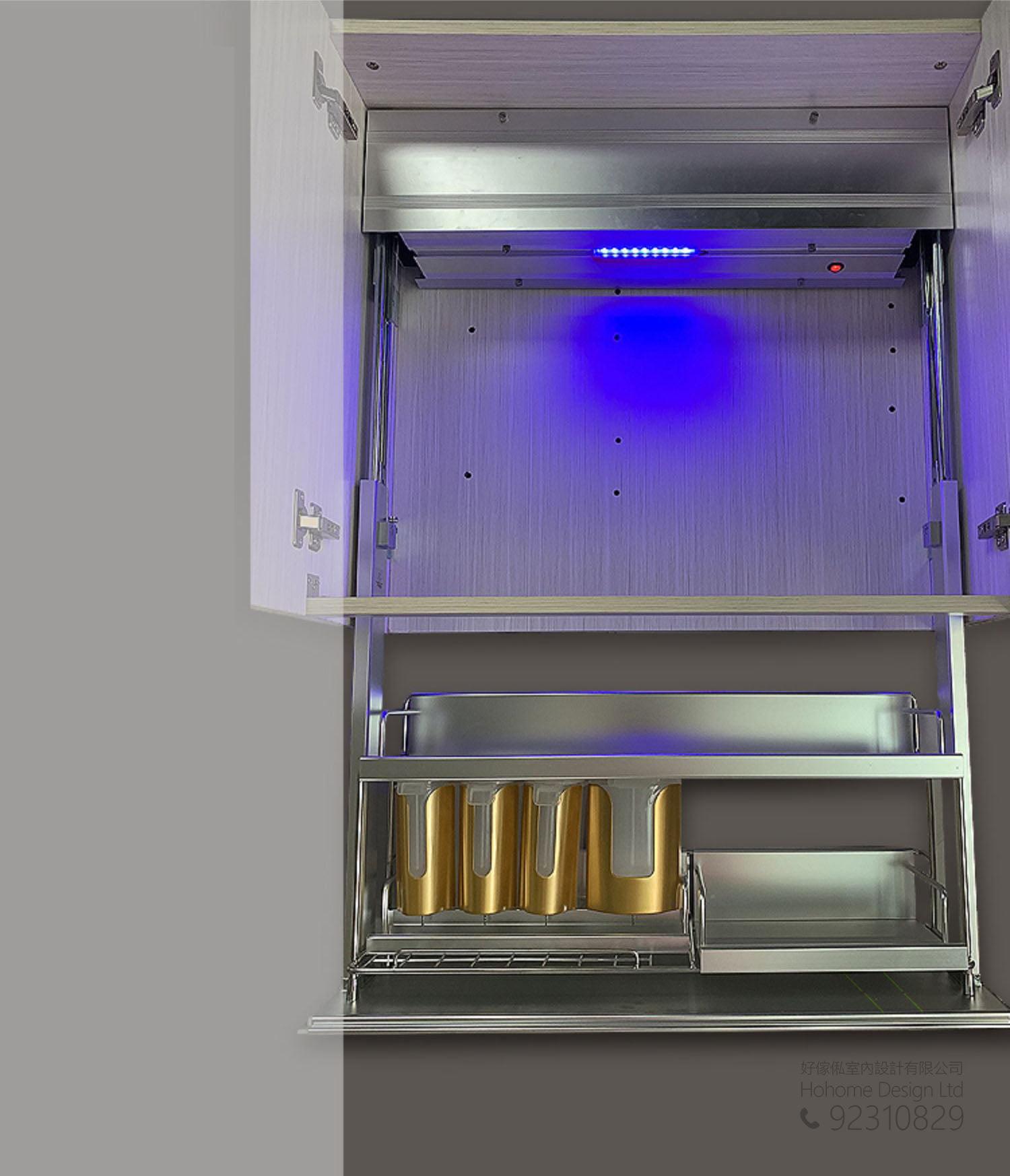 智能家居電動升降系統 衣櫃廚櫃升降吊櫃五金配件,適合應用在訂造衣櫃、儲物櫃、智能家居 / 智能家具、書櫃、電視櫃及廚櫃或其他由我們設計師建議的訂造傢俬之上