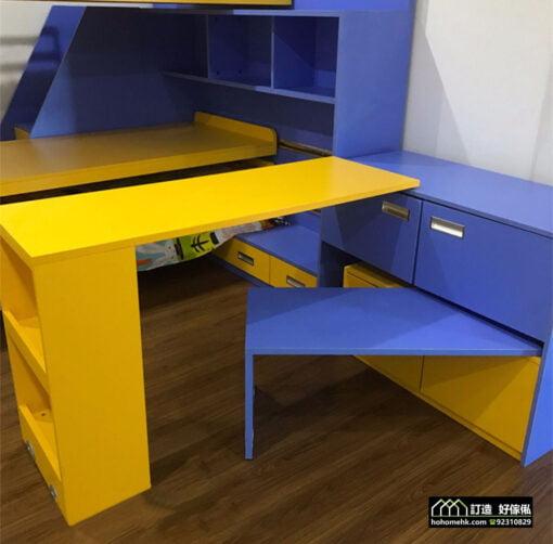 廳櫃組合旋轉式書桌五金配件,適合應用在訂造書櫃、電視櫃、衣櫃、伸縮枱、組合床 / 上下床 / 碌架床及儲物櫃或其他由我們設計師建議的訂造傢俬之上