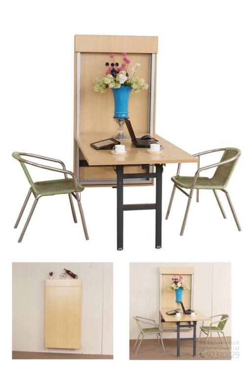 多功能不佔空間的牆掛式隱藏桌,適合應用在訂造伸縮枱或其他由我們設計師建議的訂造傢俬之上