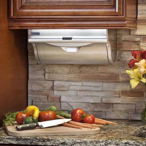 廚房必備自動感應卷紙器,適合應用在訂造廚櫃或其他由我們設計師建議的訂造傢俬之上