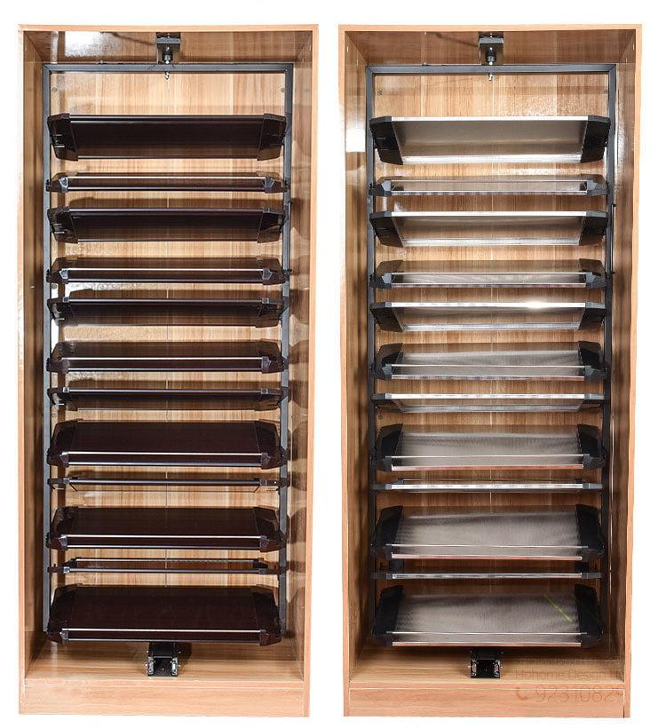 型格多層360度旋轉鞋架鞋櫃五金,適合應用在訂造鞋櫃或其他由我們設計師建議的訂造傢俬之上