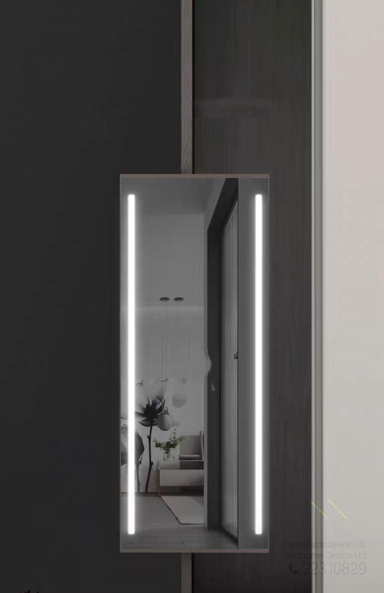 衣櫃用旋轉推拉智能LED燈試衣鏡,適合應用在訂造衣櫃、智能鏡、儲物櫃及智能家居 / 智能家具或其他由我們設計師建議的訂造傢俬之上