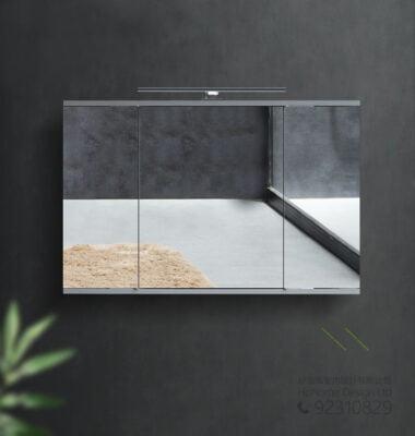 廁所必備折疊式隱藏鏡櫃移動滑輪五金,適合應用在訂造廁所鏡櫃或其他由我們設計師建議的訂造傢俬之上