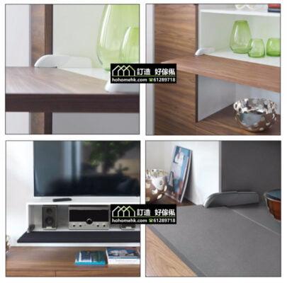 意大利進口推彈式下翻門鉸,適合應用在訂造電視櫃、鞋櫃、衣櫃、儲物櫃、書櫃及門鉸或其他由我們設計師建議的訂造傢俬之上