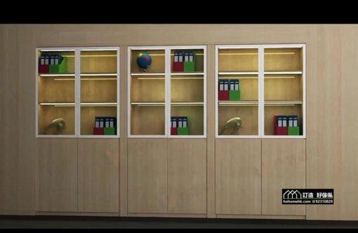 智能家居系統 電動旋轉隱型衣帽間書房櫃門五金,適合應用在訂造儲物櫃、書櫃及吊趟門或其他由我們設計師建議的訂造傢俬之上