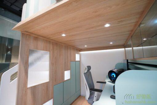 屋仔組合床看點:長虹玻璃、樓梯儲物櫃、開放式層格、衣櫃、櫃桶、樓板射燈
