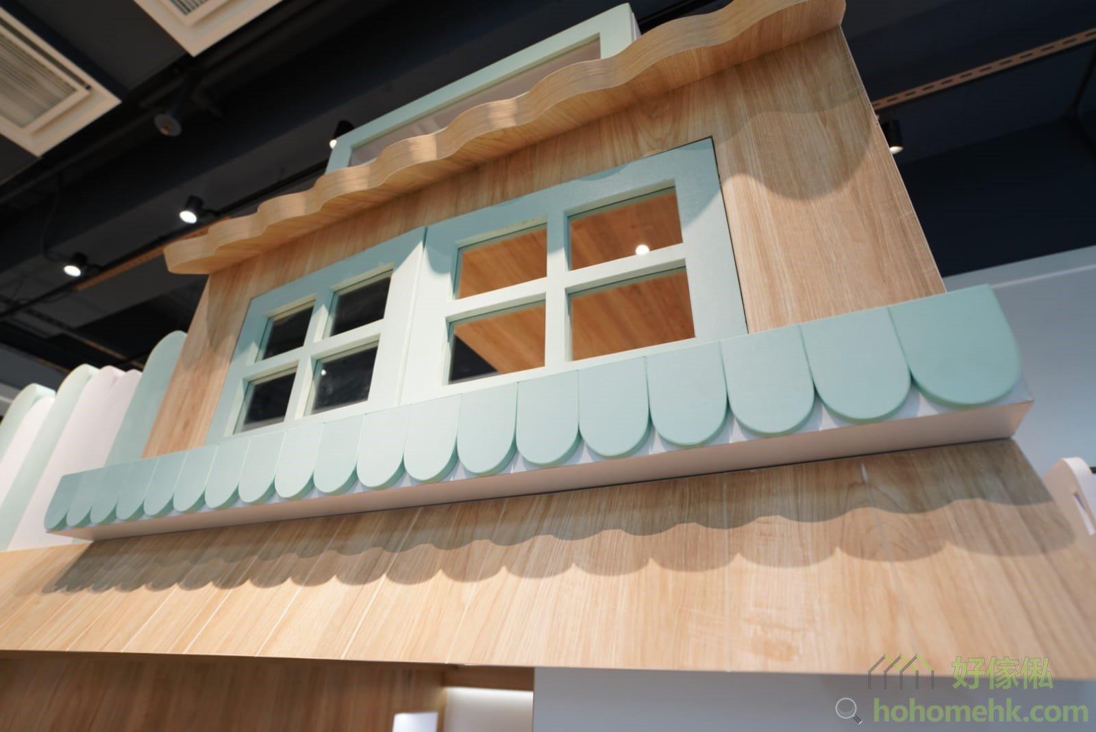 屋仔床看點: 圓邊屋頂、花槽、雨簷