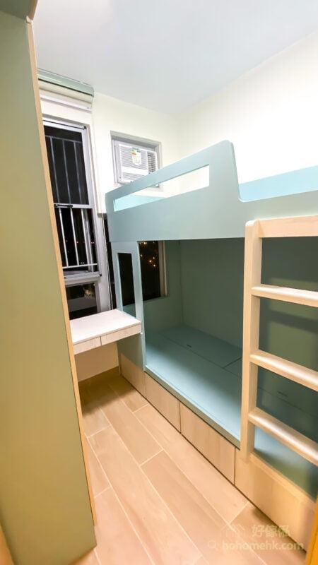 睡房的上下床, 碌架床連衣櫃和書枱
