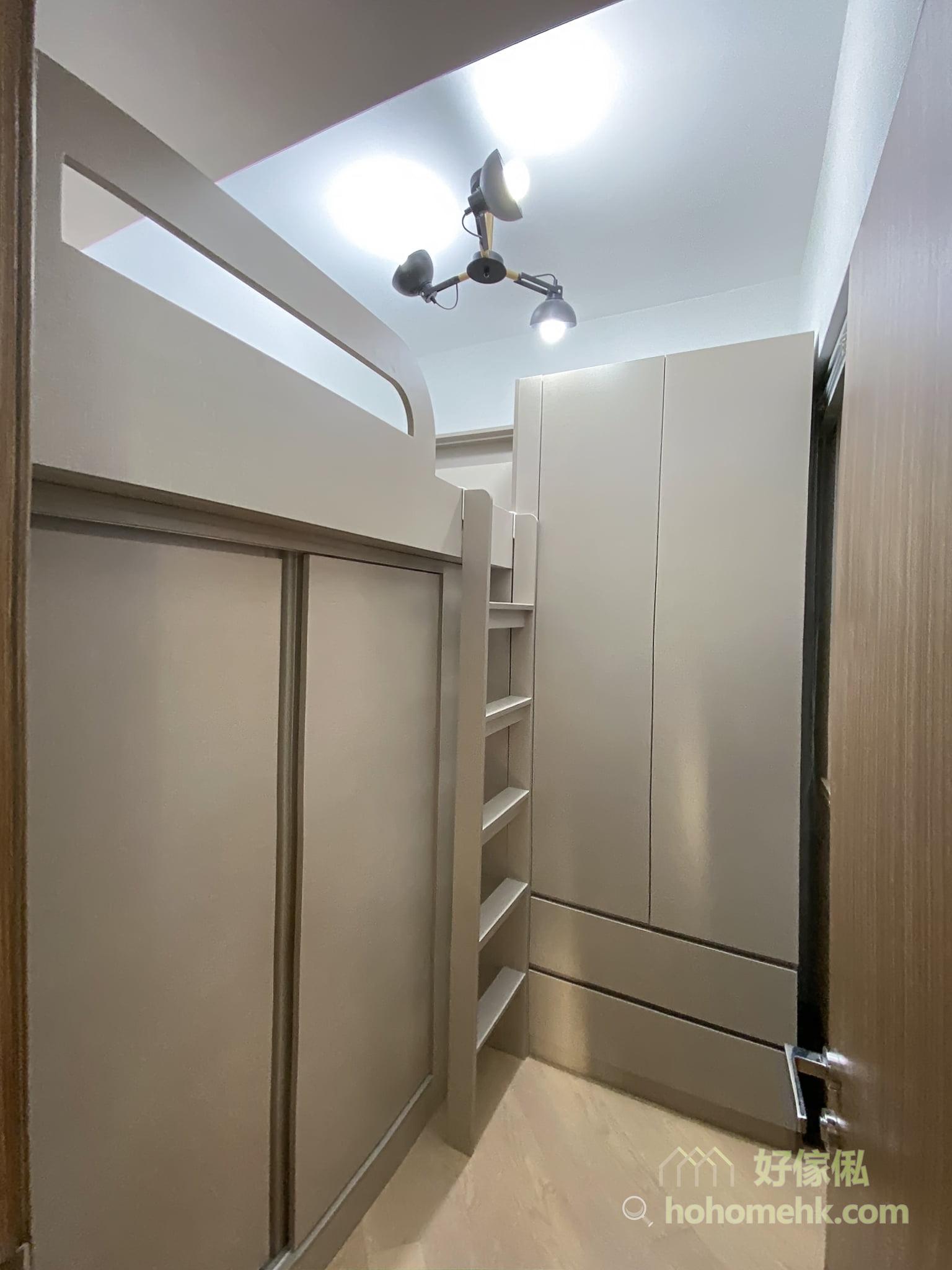 組合床設計 - 上床下衣櫃