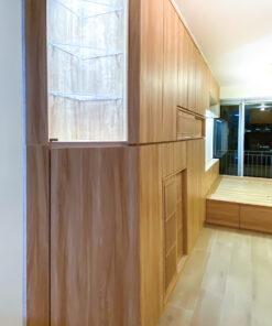 客廳儲物櫃/電視櫃/鞋櫃/飾櫃連地台, 斜角設計減高身櫃壓迫感