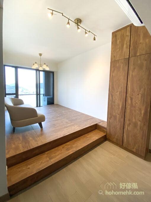 一個超級承重的客廳榻榻米地台