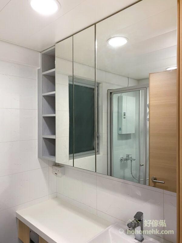 浴室的鏡櫃, 面盤及地櫃