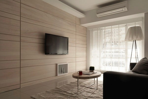 木飾板可以把房門隱藏起來