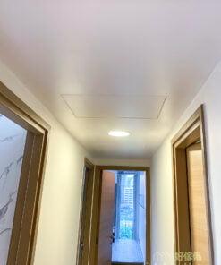隱藏式設計的走廊天花吊櫃, 讓你得到意想不到的儲物空間