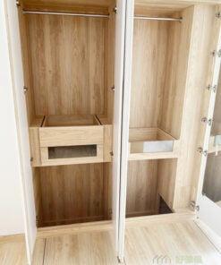 睡房地台床連衣櫃及梳妝枱, 配合高身衣櫃, 儲物空間Level Up