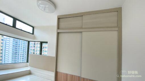 半地台睡房, 地台床連衣櫃設計