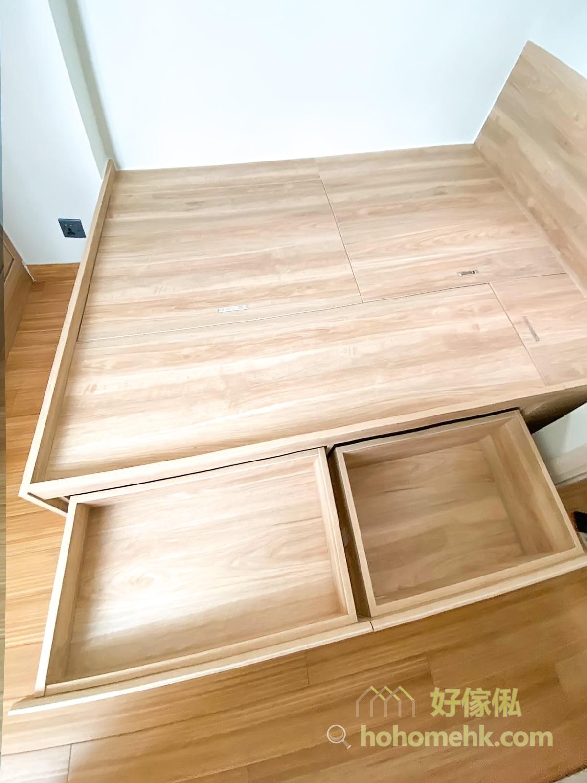 訂造地台床連衣櫃, 爭取最大的儲物空間