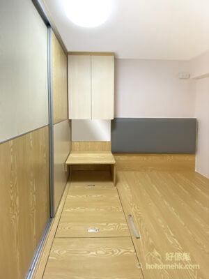 睡房地台床連梳妝枱及衣櫃